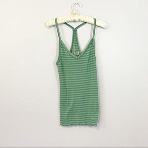 Out from Under Urban Outfitters Green Striped Tank